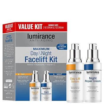 Lumirance Anti-Aging Day & Night Facelift Kit with Retinol, Hyaluronic and Vitamin C