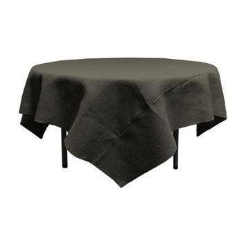 LA Linen TCBurlap90x90-Black Dyed Natural Burlap Tablecloth Square Black - 90 x 90 in.
