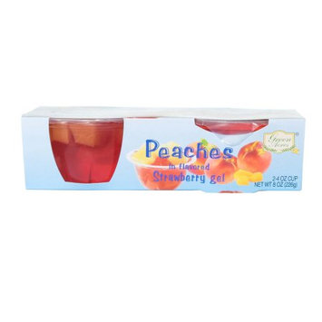 Golden Beach, Inc. Diced Peach In Strawberry Gel