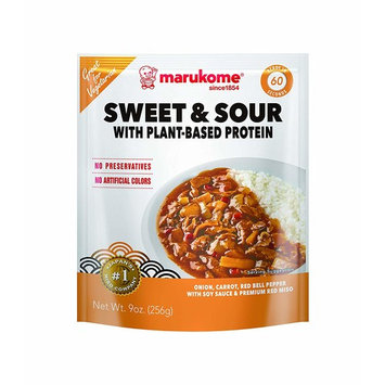 Marukome Sweet & Sour with Plant-Based Protein, 9 Ounce