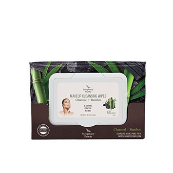 Symphony Beauty Makeup Cleansing Wipes, Charcoal & Bamboo Extract, 60 Wipes [Charcoal & Bamboo]
