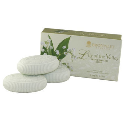 Lily Of The Valley By Bronnley England Triple Milled Soaps (Pack of 3)