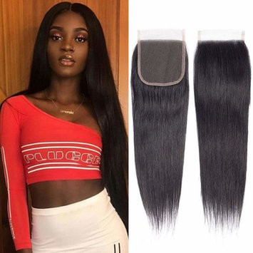 Brazilian Virgin Human Hair Lace Closure Straight 4x4 Free Part Silk Straight Human Hair Top Lace Closure 8A Grade 10 inch Natural Black Color