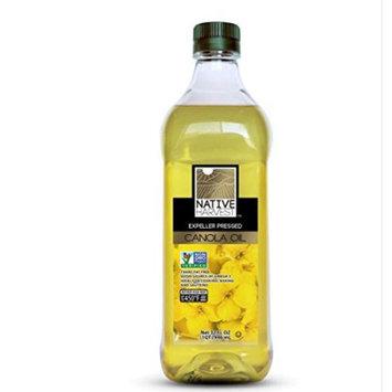 Native Harvest Expeller Pressed Non-GMO Canola Oil, 1 Liters (33.8 FL OZ)