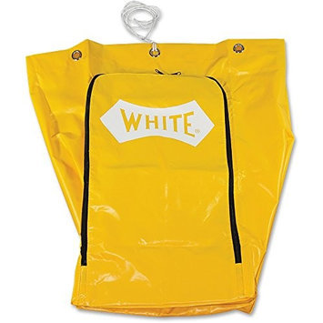 Impressions Impact Products Janitors Cart Replacement Bag - 25 gal - Yellow - Vinyl - 1each (imp-6851)