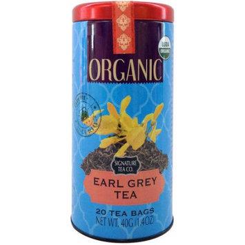 Mbm Industries Signature Tea Co. Organic Earl Grey Tea, 20 count, 1.4 oz