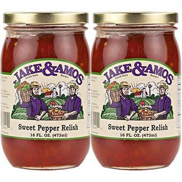 Jake and Amos Sweet Pepper Relish - 2 -16 oz. Jars