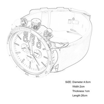 WEIDE WH3310 Fashionable Men Male PU Leather Strap Quartz Wrist Watch Gift