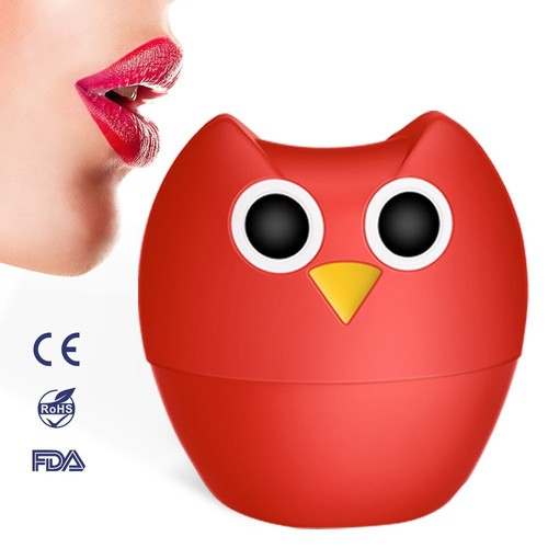 Lip Plumper Enhancer - MEXITOP NANA Owl Soft Silicone Lip Filler Plumping Device, Natural Fuller Thicker Sexy Quick Lip Enhancement Enlarger Tool, Amazing Effect Using...