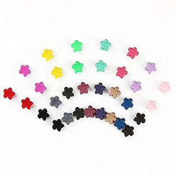 eroute66 Kids Girls Colorful Flower Hairpins Mini Hair Clips Claw 30 Pcs