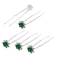 SODIAL 5 Pieces Bridesmaid Wedding Rose Deco Hairpin Clip Green