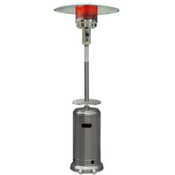 Hanover Outdoor HAN003SS 7-Ft. 41,000 BTU Steel Umbrella Propane Patio Heater in Stainless Steel
