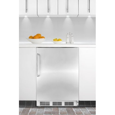 Summit FF7BISSTBADA: ADA compliant commercial built-in auto defrost all-refrigerator with white cabinet, sta