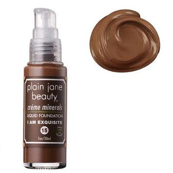 Plain Jane Beauty 232019 I Am Exquisite 15 Creme Minerals Liquid Foundation