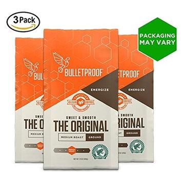 Bulletproof The Original Ground Coffee, Premium Medium Roast Organic Beans, 3-Pack [Ground]