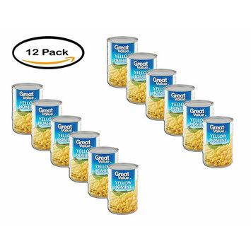 PACK OF 12 - Great Value Yellow Hominy, 15.5 oz
