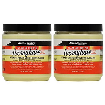 Aunt Jackie's Fix My Hair Intensive Repair Conditioning Masque 15oz (Pack of 2)