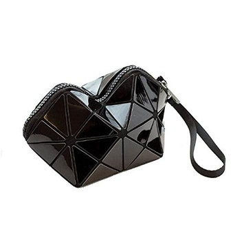 Cosmetic Pouch Clutch Makeup Bag - Black