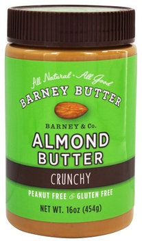 Barney Butter - All Natural Almond Butter Crunchy - 16 oz(pack of 4)