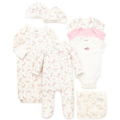 Little Me Baby Girls' Vintage Rose Gift Bundle