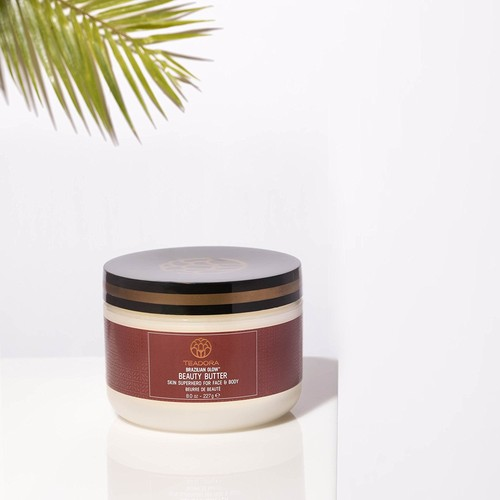 Vegan Skin Moisturizer (8 oz) Brazilian Glow Beauty Butter - Natural Anti-Aging Skin Care. Rich in vitamins, antioxidants, and fatty acids. Helps improve elasticity and firmness by Teadora
