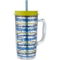 bubba Envy Dual-Wall Insulated Mug, 48 oz, Seaside Stripes Citron Pop