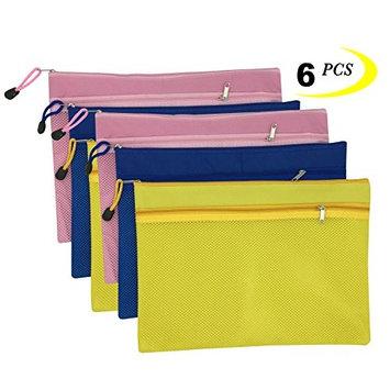 Kinhshion Storage Pouch,Zipper Bags Double Layer, 6 PCS A4 Sizes, 13