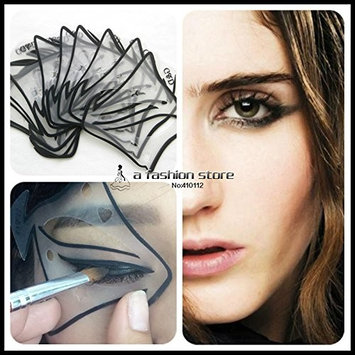 Winged Eyeliner Stencil Eyeliner Stencil - 7 style in 1 set Quick Makeup Cat Eyeliner Smokey Eyeshadow Drawing Guide Reusable Stencil for Classic Eye Liner Template - Wing Eyeliner Stencil