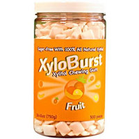 XyloBurst Fruit Xylitol Chewing Gum, 500 count, 26.45 oz