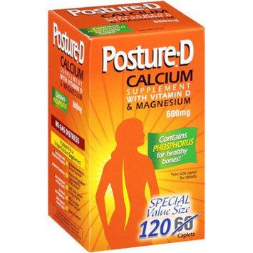 International Vitamin Corporation Posture-d Calcium with Vitamin D & Magnesium 600 Mg, 120 Caplets