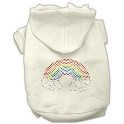 Mirage Pet Products Rhinestone Rainbow Hoodies, Size 18, Cream