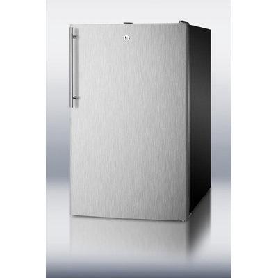 Summit CM421BLBISSHV 4.1 Cu. Ft. Stainless Steel Undercounter Compact Refrigerator
