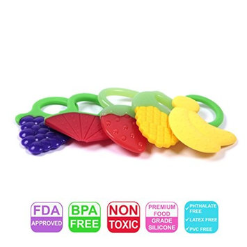 Mammas Club Baby Fruit Teether Toys, 5 Pack
