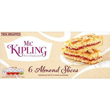 Mr Kipling Cakes - Almond Slices - 1 Box with 6 Pieces by Mr. Kipling