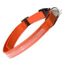 Oxgord PTCL-02-SM-OG Small New Style Pet LED Collar - Orange