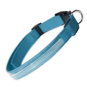 Oxgord PTCL-02-MM-BL Medium New Style Pet LED Collar - Blue