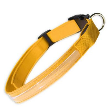 Oxgord PTCL-02-MM-YW Medium New Style Pet LED Collar - Yellow