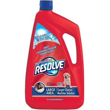 Resolve Professional Pet 2x Concentrated Carpet Cleaner Machine Solution 96 oz (12 Pack)