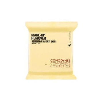 Comodynes 1 Pack Make Up Remover Towelettes for Sensitive & Dry Skin (20 Towelettes)