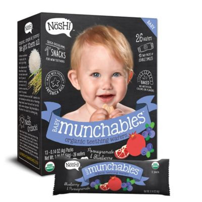 Nosh™ Baby Munchables™ 13-Packs of 2 1.9 oz. Blueberry & Pomegranate Organic Teething Wafers