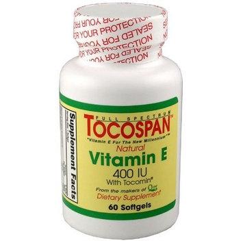 TOCOSPAN the full spectrum Vitamin E (400 IU Formulation) 60 Softgels