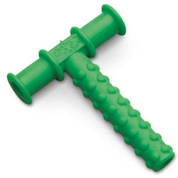Knobby Texture Chewy Tube Green, 2 Pack