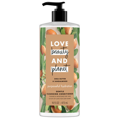 Love Beauty And Planet Shea Butter & Sandalwood Cleansing Conditioner Purposeful Hydration 16 oz