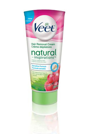Veet® Natural Inspirations Hair Removal Cream with Grape Seed Oil Sensitive Formula