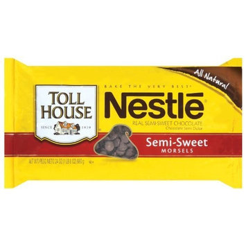 Nestle Toll House Semi Sweet Chocolate Morsels, 24-Ounce Packages (Pack of 12)