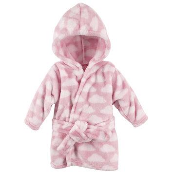 Boy and Girl Animal Plush Bathrobe - Pink Clouds