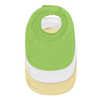 I Play green sprouts Waterproof Absorbent Milk Catcher Bib 3pk-Green Set-0/6mo