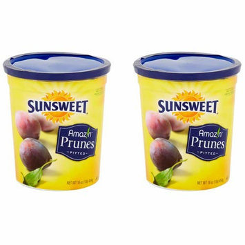 SUNSWEET Amazin Pitted Prunes, 16 oz - Pack of 2