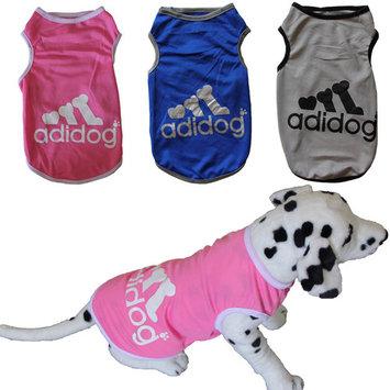 Pet Dog Cat Mesh Clothes Vest T-shirt Cute Adidog Autumn Winter Dress