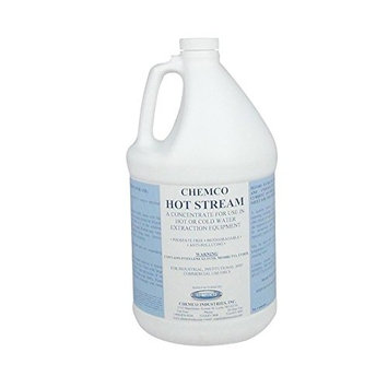 Carpet Cleaner - Hot Stream by Chemco - Industrial Strength Carpet Cleaner - 4x1 Gallons/Case